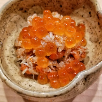 Female Crab Rice with Ikura